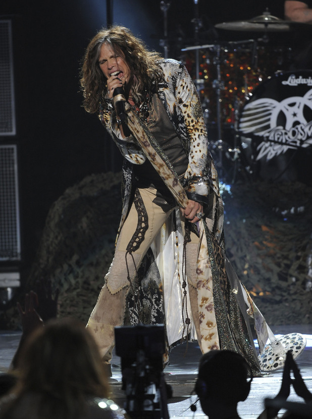 Steven Tyler performs with Aerosmith