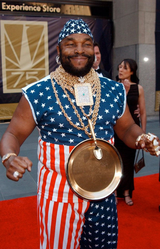 Mr T at the Rockerfeller Center.
