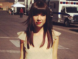 Carly Rae Jepsen posted this image on Twitter with the caption 'Just walked the red carpet! #BBMA What do you think of the dress?' when in attendance at the 2012 Billboard Music Awards