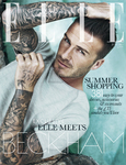 David Beckham Elle front cover