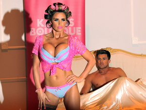 Katie Price and Leandro Pena launches her Summer lingerie range for Store Twenty One at The Worx. London