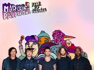 Maroon 5 feat. Wiz Khalifa 'Payphone' artwork.