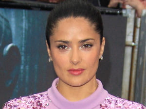 Salma Hayek arriving at the 'Prometheus' world premiere, held at the Empire, Leicester Square