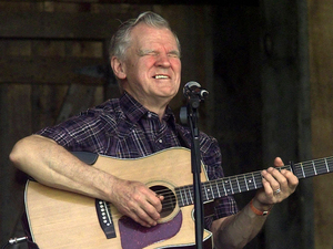 Doc Watson pictured in 2001