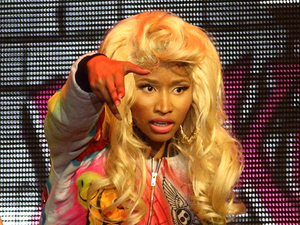 Nicki Minaj performing live at Hisense Arena Melbourne, Australia as part of her &#39;Pink Friday&#39; world tour