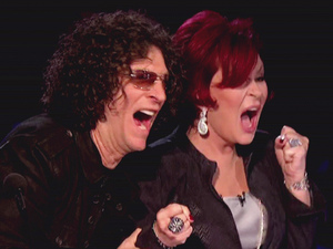 Howard Stern and Sharon Osbourne