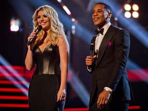 The Voice UK Live Final:  Holly Willoughby and Reggie Yates