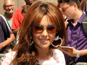 Cheryl Cole is pictured outside the BBC Radio Two studios in London