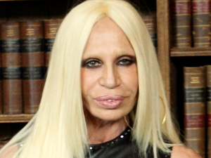 Donatella Versace at Oxford Union where she is a guest speaker