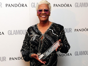 Dionne Warwick with the Glamour Icon Award, at the 2012 Glamour Women of The Year Awards