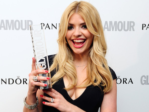 Holly Willoughby with the award for Best Presenter at the 2012 Glamour Women of the Year Awards