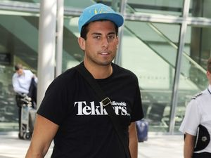James Argent at Heathrow Airport.