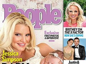 Jessica Simpson and daughter Maxwell on the cover of People