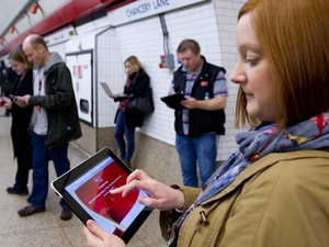 Virgin London Underground Wi-Fi station