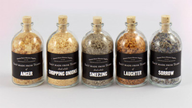 Salts harvested from human tears