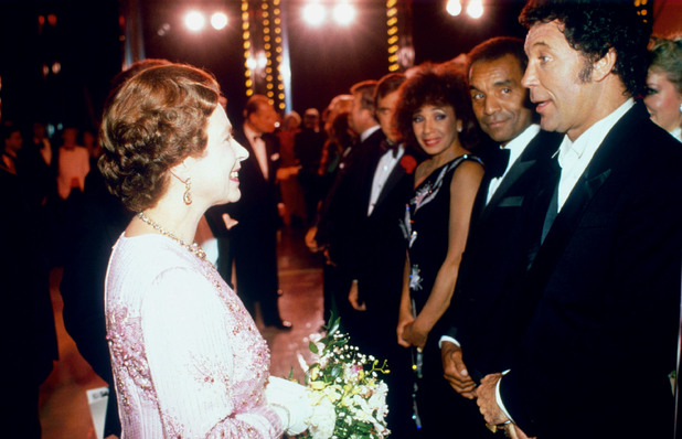 The Queen and Tom Jones