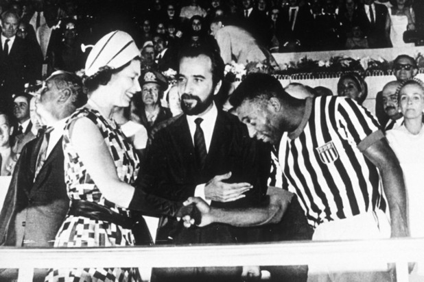 The Queen and Pele