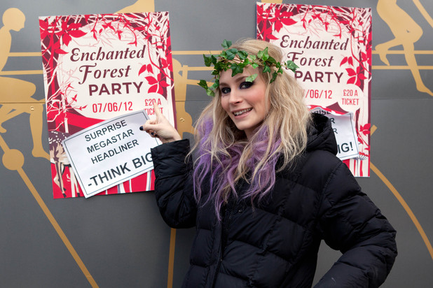 Hollyoaks - Behind the scenes at the Enchanted Forest party