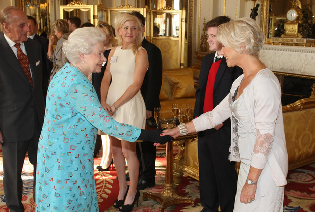The Queen and Dame Helen Mirren