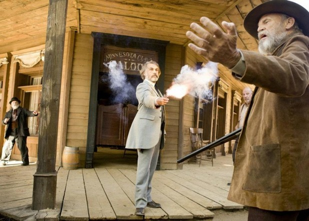 Christoph Waltz as Dr King Schultz in Quentin Tarantino's <em>Django Unchained</em>.