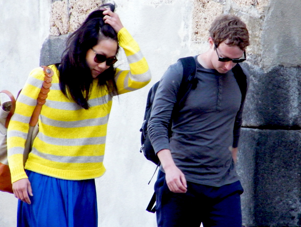 Facebook founder and CEO Mark Zuckerberg and his new bride Priscilla Chan spend their honeymoon on the Amalfi Coast in Salerno, Italy