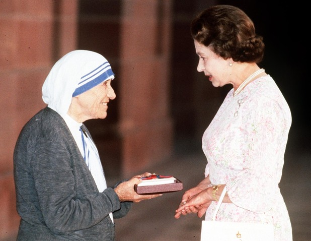 Mother Teresa and the Queen