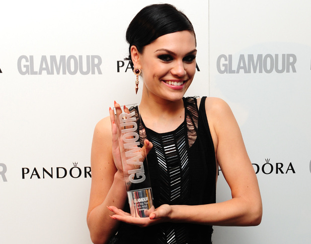Jessie J with the award for Best Solo Artist at the 2012 Glamour Women of The Year Awards at the 2012