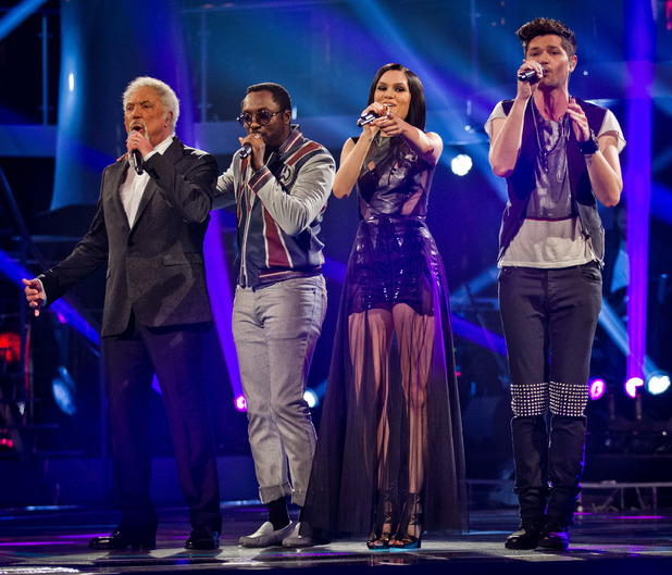 The Voice UK Live Final: The judges open the show.