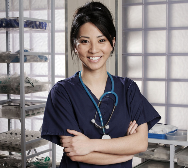 Jing Lusi as Tara Lo in Holby City
