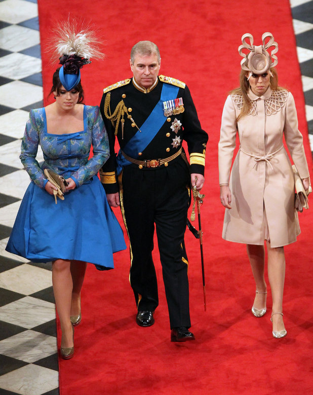 Prince Andrew, Princess Eugenie and Princess Beatrice