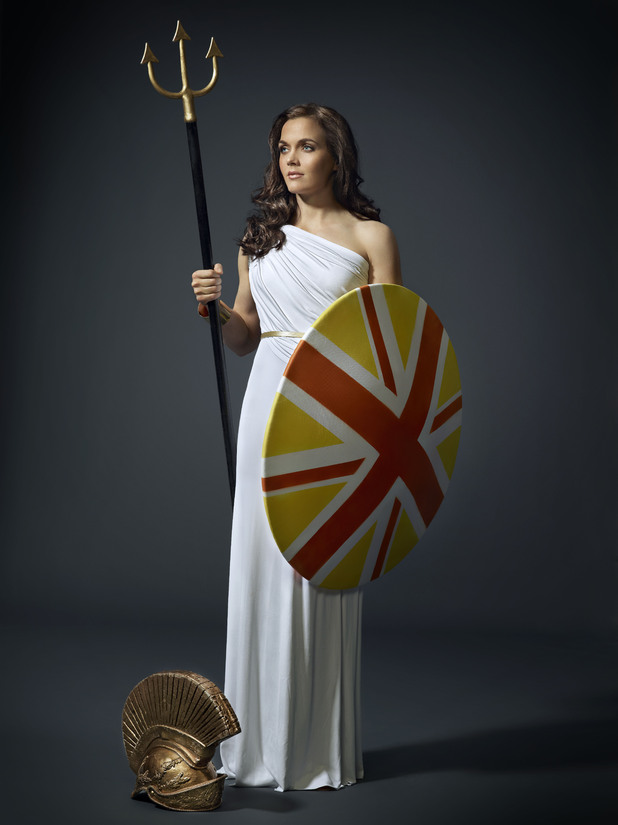 Victoria Pendleton as Britannia for Hovis