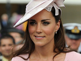 Kate Middleton, The Duchess of Cambridge meets guests during a garden party at Buckingham Palace, London.
