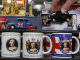 Diamond Jubilee souvenirs are seen on display in a shop on Oxford Street, London