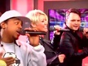Three members of S Club 7 perform 'Reach' in Australia.