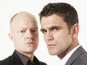 Jake Wood and Scott Maslen as Jack and Max Branning in EastEnders