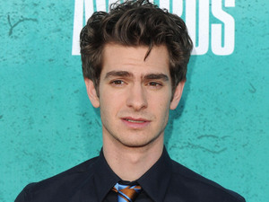 Andrew Garfield on the red carpet at the MTV Movie Awards 2012