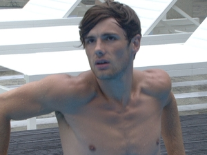 Big Brother 2012 Day 4: Arron in the pool.