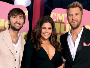 Lady Antebellum arriving at the 2012 CMT Music Awards in Nashville