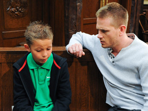 After Alicia tells him she might be going to prison, an upset Jacob asks David if he can move in with him