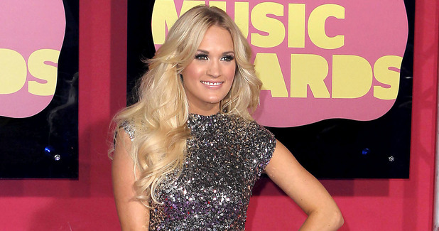 Carrie Underwood arriving at the 2012 CMT Music Awards in Nashville
