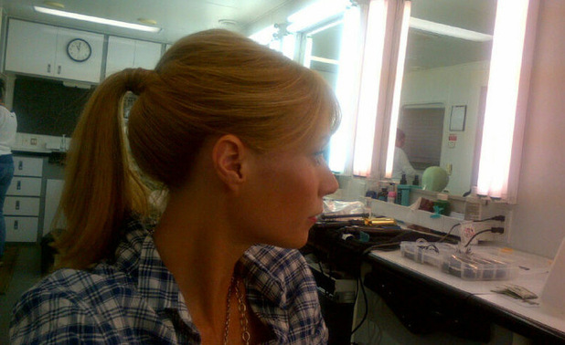 Gwyneth Paltrow on the set of 'Iron Man 3'