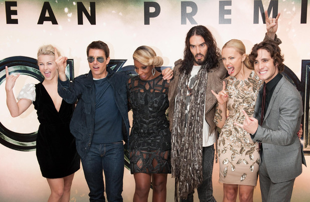 Rock of Ages UK Premiere: Julianne Hough, Tom Cruise, Mary J Blige, Russell Brand, Malin Akerman and Diego Boneta.
