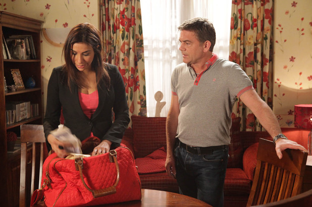 Eva is eavesdropping when she overhears Sunita telling Karl she is not going to keep his dirty little secrets anymore