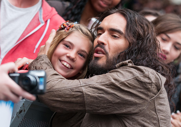 Rock of Ages UK Premiere: Russell Brand meets fans.