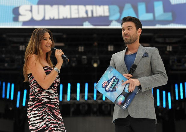 Capital FM's Summertime Ball: Presenters Lisa Snowdon and Dave Berry
