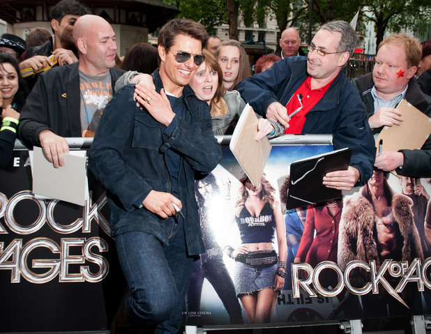 Rock of Ages UK Premiere: Tom Cruise meets fans.