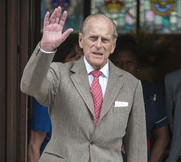 Prince Philip leaving the King Edward VII hospital, London