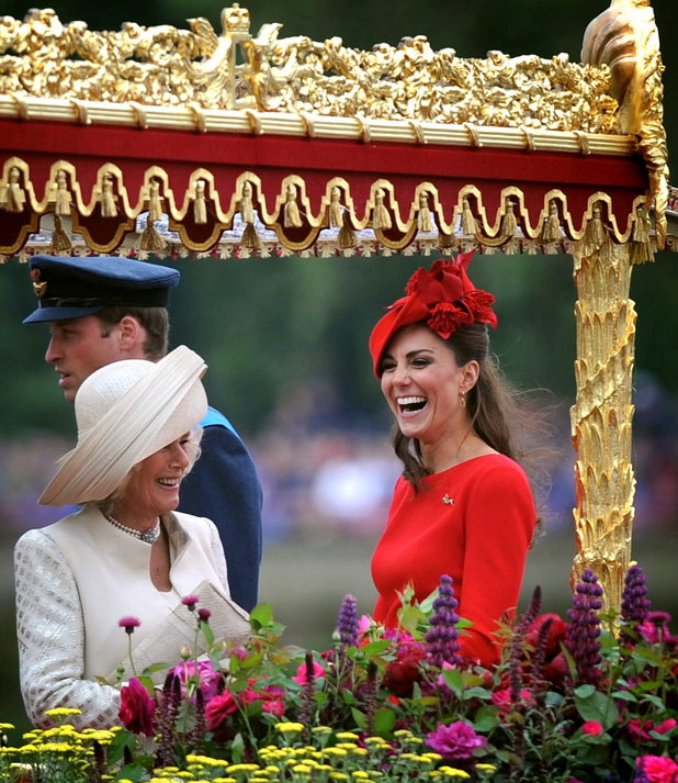 The Duchess of Cornwal and the Duchess of Cambridge