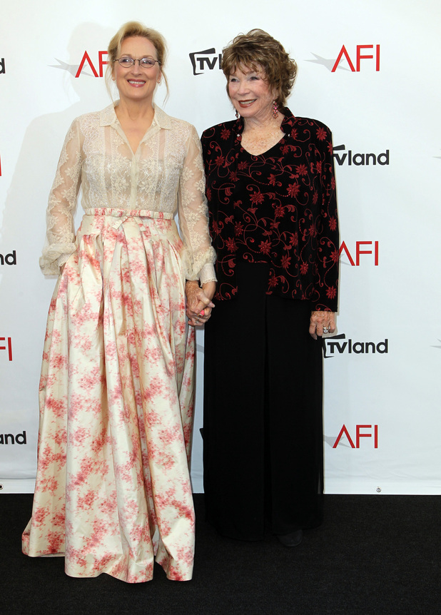 Meryl Streep and Shirley MacLaine