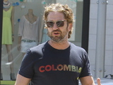 Gerard Butler seen out and about in Beverly Hills Los Angeles, California